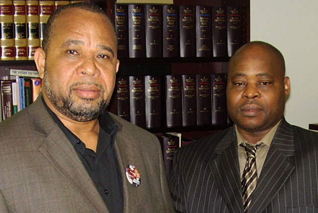 Joseph Nwachukwu (left) and Campaign Manager Alidu Gates