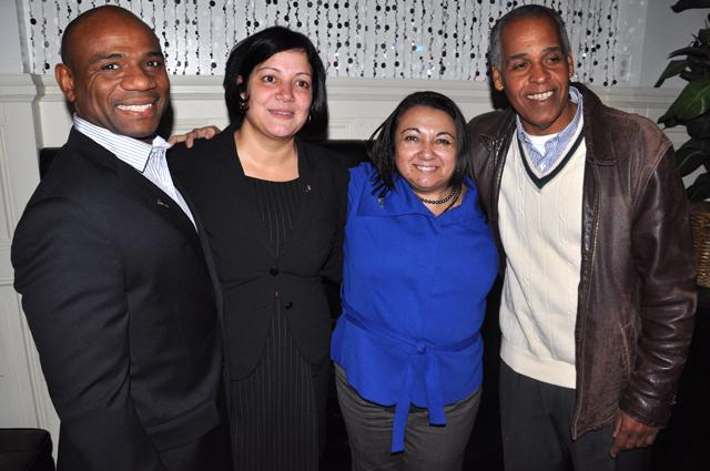 Bronx court victors (l. to r.) Eddie McShan, Linet Rosado, Nelida Malave-Gonzalez and Fernando Tapia